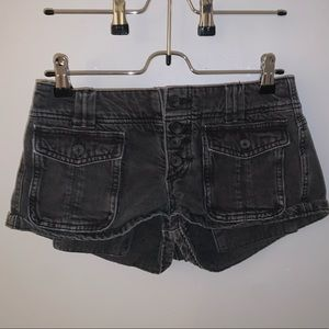 Free People: Cora front button denim shorts